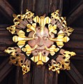 Green Man ceiling boss at St Helen Witton Church, Northwich, Cheshire.jpg