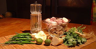 Thai curry - Ingredients for green curry
