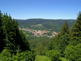 Großer Beerberg highest point of Thuringian Forest, Germany