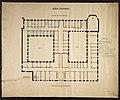 Grundriss des 2. Stockwerks von Kloster Marienstatt mit dem geplanten Raum für Nonnen der 'Armen Dienstmägde Jesu Christi'. 19. Jahrhundert.jpg