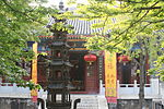 Pagoda, library caves and stone tablets of sutra in Yunju Temple