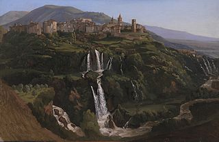 View of Tivoli in Italy