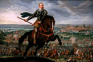 Gustavus Adolphus in the battle of Breitenfeld