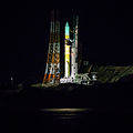 H-IIA with GPM on launch pad before liftoff.jpg