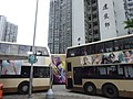 HK 屯門 Tuen Mun 建生總站 Kin Sang Bus Terminus Estate July 2016 DSC KMBus body ads movie League of Gods Leung Wan Street No Smoking zone.jpg