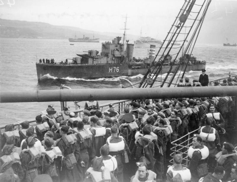 HMS Fury alongside