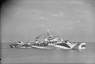 Escort Group - The homogeneous 9th Escort Group of ''Havant''-class destroyers was broken up to provide group leaders for the Mid-Ocean Escort Force.
