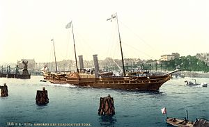 Steam yacht - HMY ''Osborne'' (built 1870) in about 1895