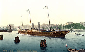 Steam yacht - HMY Osborne (built 1870) in about 1895