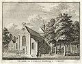 HUA-135835-Gezicht op de Janskerk op het Janskerkhof te Utrecht uit het zuidwesten met links van de kerk het gebouw van de Hoofdwacht.jpg