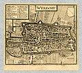 HUA-212026-Plattegrond van de stad Utrecht met directe omgeving met stratenplan verkavelingen wegen en watergangen en gestileerde weergave van de bebouwing en gr.jpg