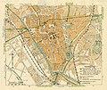 HUA-212049-Plattegrond van de stad Utrecht met weergave van het stratenplan met een aantal straatnamen belangrijke gebouwen wegen spoorlijnen watergangen en plan.jpg
