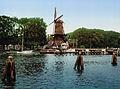 Haarlem - Spaarne met molen 1900.jpg