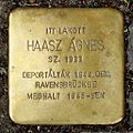 Haasz Ágnes stolperstein (Budapest-07 Rákóczi út 56).JPG