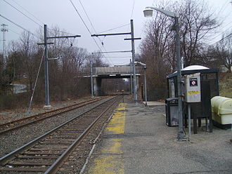 Great Notch station - Great Notch Station looking towards Hackettstown prior to closure
