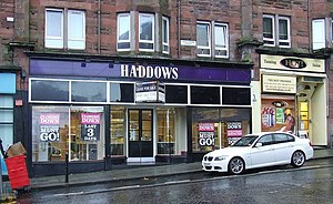 First Quench Retailing - Haddows branch in Port Glasgow during closing-down sale in late 2009.