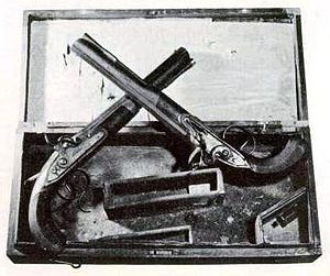 Burr–Hamilton duel - The Wogdon pistols used in the duel.