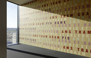 Hans Danuser - Hans Danuser, Piff Paff Puff, 2010/2011, art-in-architecture project, Prime Tower, Zurich.
