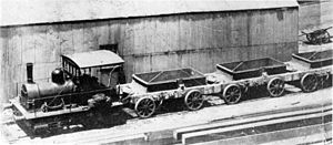 Table Bay Harbour 0-4-0WT - Table Bay Harbour's Brunel gauge 0-4-0WT construction locomotive of 1879