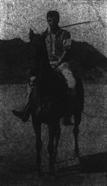 Harold Kainalu Long Castle playing polo, Honolulu Star-Bulletin, 1914.jpg