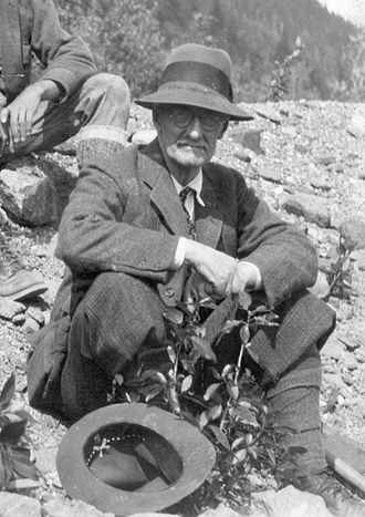 Harry Fielding Reid - Dr. H.F. Reid in Southeastern Alaska. (USGS photo by Charles Will Wright, 1933)