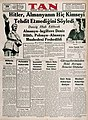 Headline reads Hitler says Germany threatens no one 1939.jpg