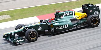 Angry Birds - Kovalainen wearing an Angry Birds-themed helmet at the 2012 Malaysian Grand Prix