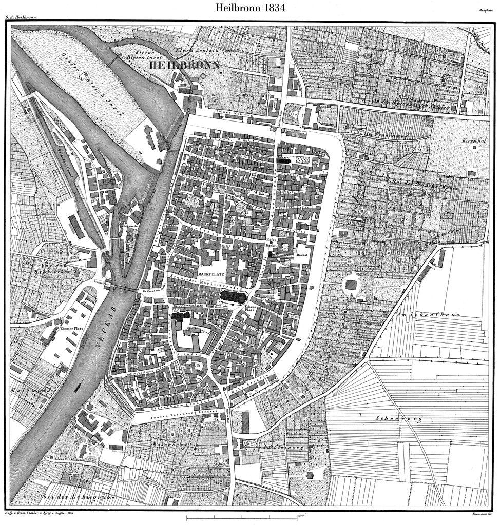 Heilbronn Karte Stadtplan.Datei Heilbronn Stadtplan 1834 Jpg Wikipedia