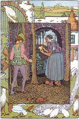 Heinrich Vogeler - Illustration Jorinde und Joringel - Zu Märchen-Comics von Rotraut Susanne Berner