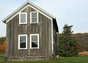 Olmsted County, Minnesota - The Helleckson Homestead, built about 1850, preserved in Olmsted County Oxbow Park