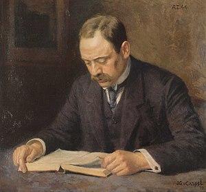 Louis Fles - Image: Henri Polak, geschilderd door Johan van Caspel