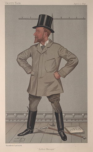 "Henry Arthur Jones - ""Author-Manager"". Caricature by Spy published in Vanity Fair in 1892."