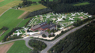Flugausstellung Hermeskeil - Aerial photograph of the museum