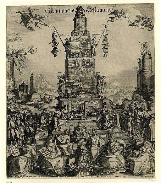 Het Arminiaans Testament, 1618 t' Arminiaens Testament (titel op object), RP-P-OB-77.269