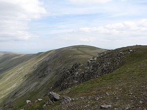 High Raise (High Street) - Seen from Rampsgill Head, one km. to the south.