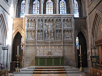 St John the Evangelist, Upper Norwood - The High altar and stone reredos