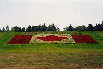 Belleville, Ontario - Flowerbed beside Highway 401 near Belleville