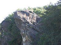 ヒキガエルに似たひき岩(和歌山県田辺市。Keisotyo自身による作品)