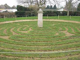 Hilton, Cambridgeshire - Image: Hilton Turf Maze geograph.org.uk 648