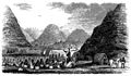 Hiram Bingham preaching to Queen Kaahumanu at Waimea in 1826.jpg