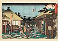Hiroshige, Tagawaya Restaurant in front of Daionji Temple (Daionji-mae Chûshuntei) From the series Grand Series of Famous Teahouses of Edo (Edo kômei kaitei zukushi), c. 1838–1840.jpg