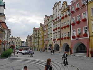 Market place of Jelenia Góra/Poland (German na...