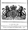 His Majesty's most gracious speech to both Houses of Parliament, on Monday, June 19, 1780. Fleuron N032978-1.png