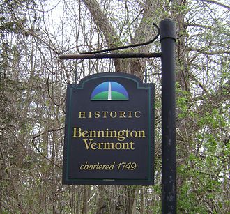 Bennington, Vermont - The sign for historic Bennington, Vermont
