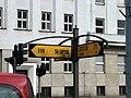 Historical fingerpost at filmmaking of 'Black Thursday' on crossway of ulica Świętojańska and Aleja Józefa Piłsudskiego in Gdynia - 2.jpg