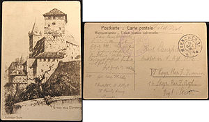 Military career of Adolf Hitler - A postcard sent by Hitler from Munich on 19 December 1916, where he explains how he wants to participate in the battles of the First World War voluntarily.
