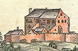 Hohensalzburg Castle - One of the earliest depictions of the castle in the 1460s, from the Schedel'sche Weltchronik