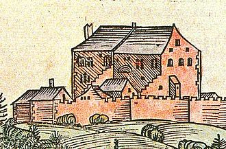 Hohensalzburg Fortress - One of the earliest depictions of the castle in the 1460s, from the Schedel'sche Weltchronik