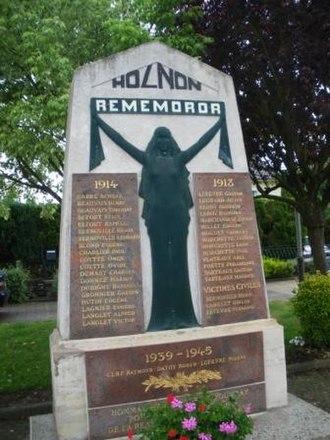 War memorials (Aisne) - The war memorial of Holnon