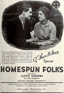 <i>Homespun Folks</i> 1920 film directed by John Griffith Wray